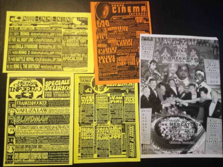 flyers nuovo cinema inferno e asian feast xm24 e link bologna